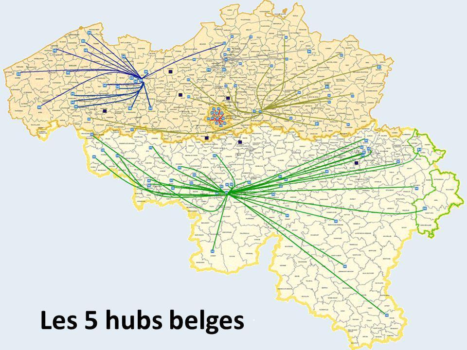 Les 5 hubs belges