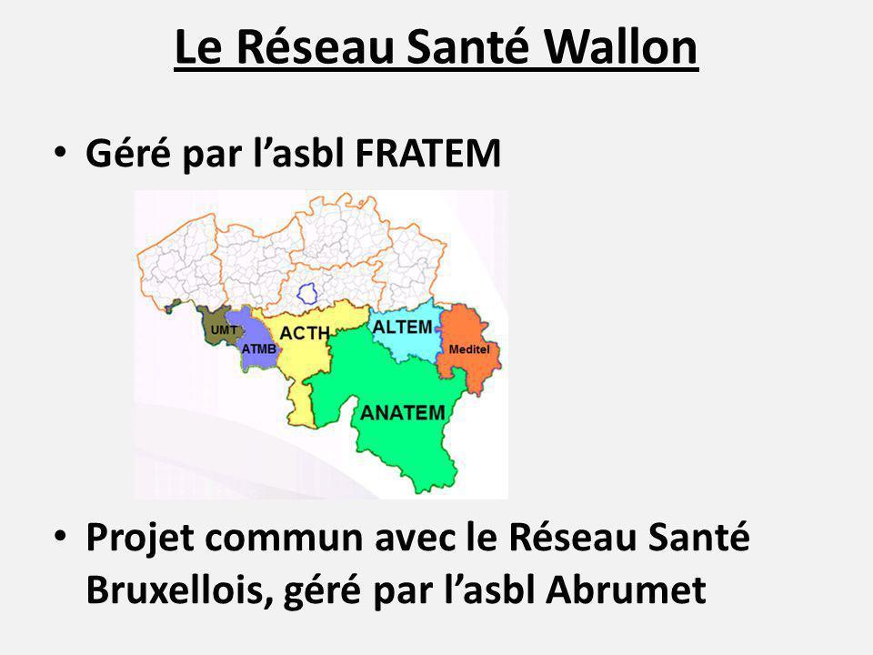 Le Réseau Santé Wallon Géré par l'asbl FRATEM