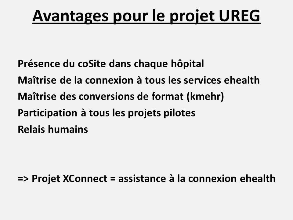 Avantages pour le projet UREG