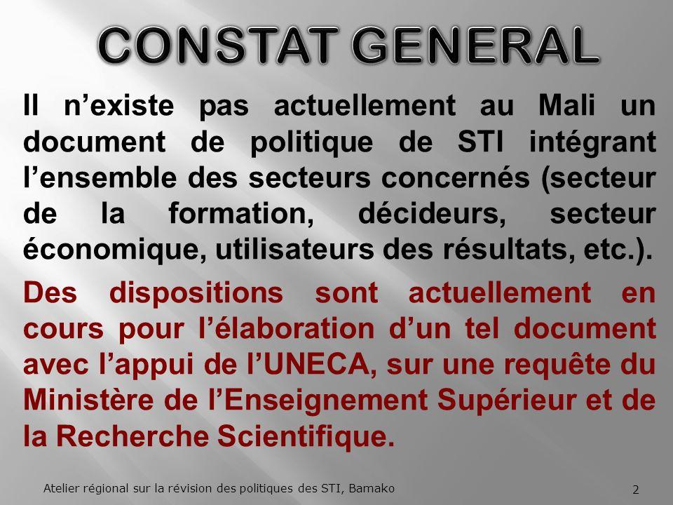 CONSTAT GENERAL