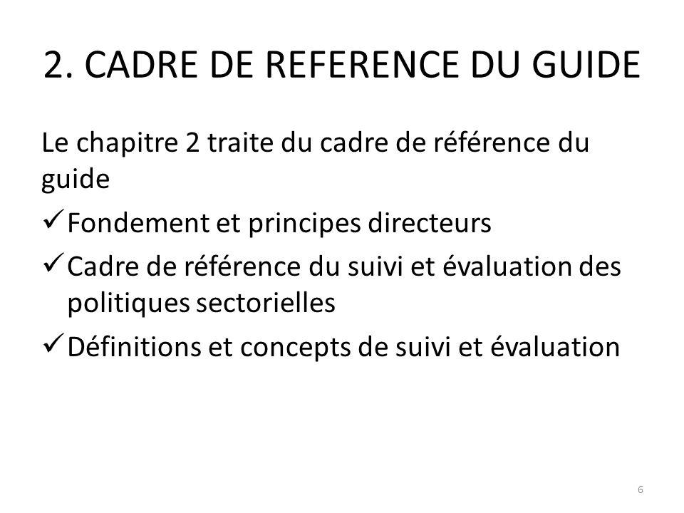 2. CADRE DE REFERENCE DU GUIDE