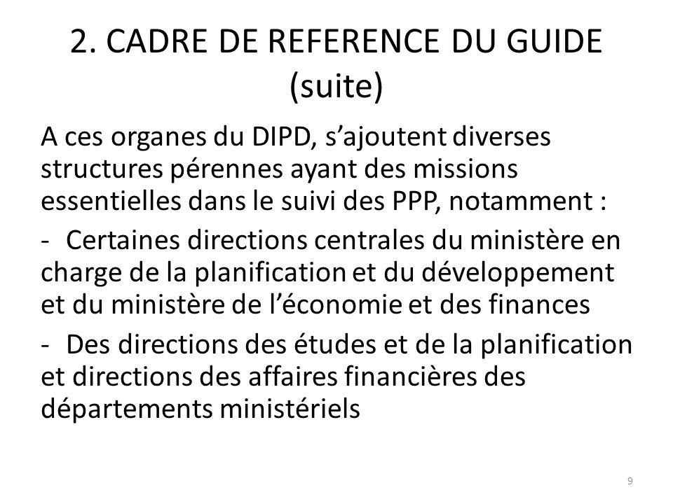 2. CADRE DE REFERENCE DU GUIDE (suite)
