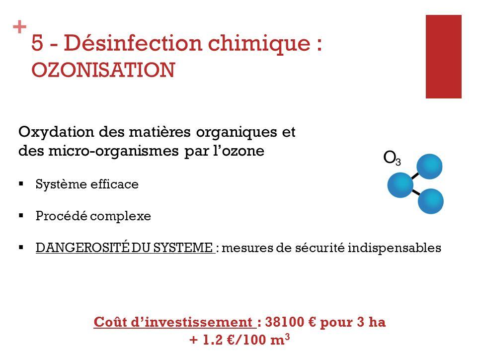 5 - Désinfection chimique : OZONISATION