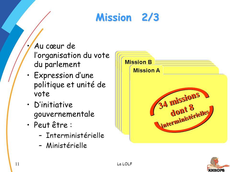 34 missions dont 8 interministérielles