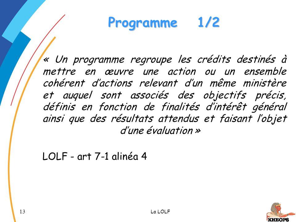 Programme 1/2
