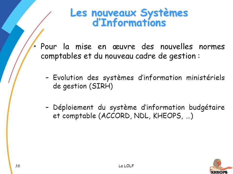 Les nouveaux Systèmes d'Informations