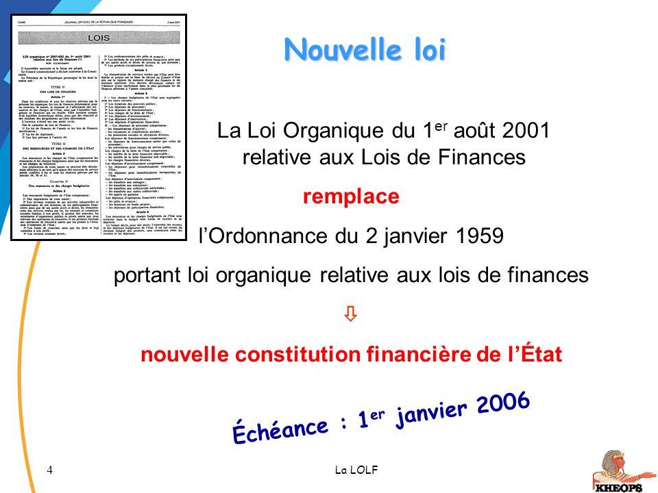 nouvelle constitution financière de l'État