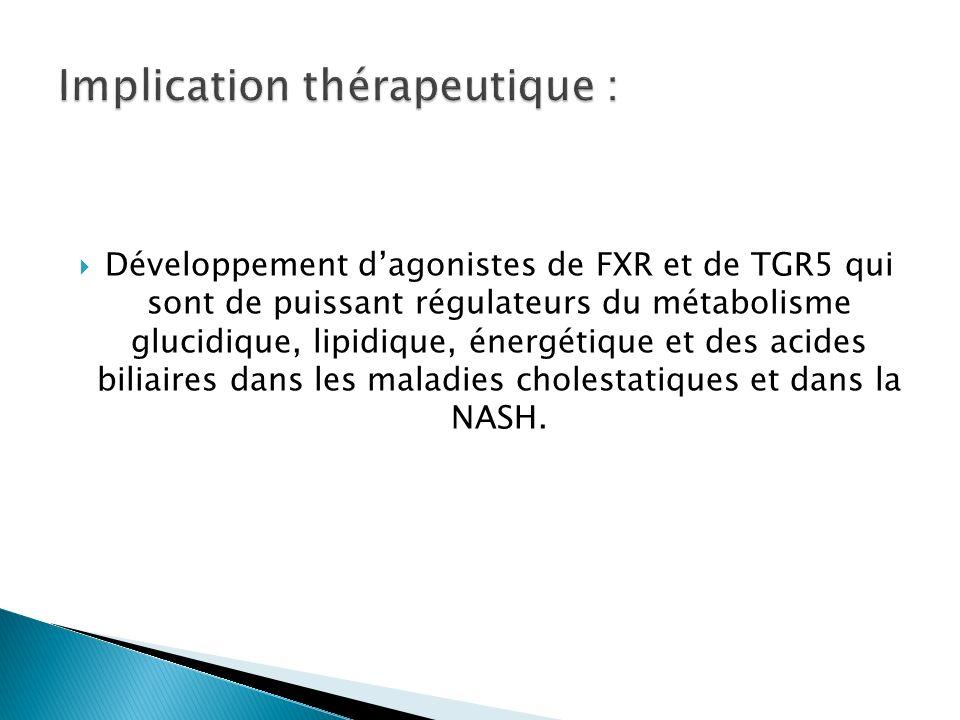 Implication thérapeutique :