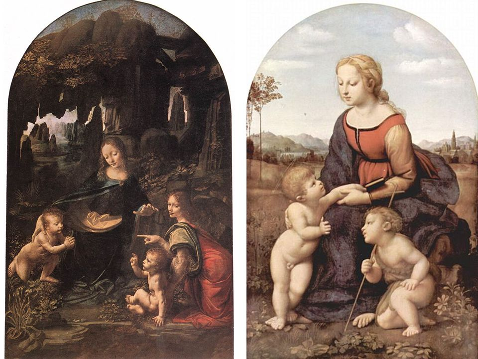 1483-86, Virgin of the Rocks, 199x122, luvr 1495-1508, Virgin of the Rocks, 189,5x120cm, london; rapha¸el La belle jardinière, 1505-08