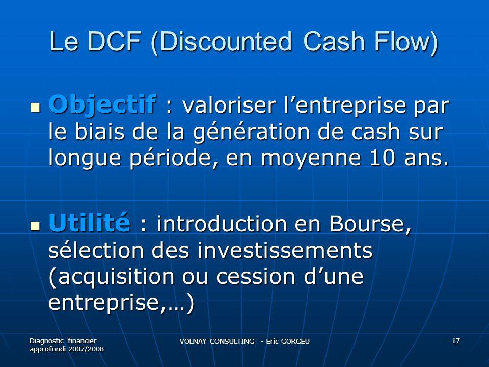 Le DCF (Discounted Cash Flow)