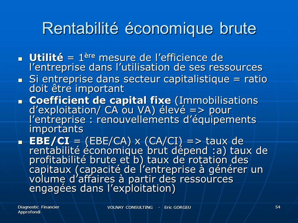 Rentabilité économique brute