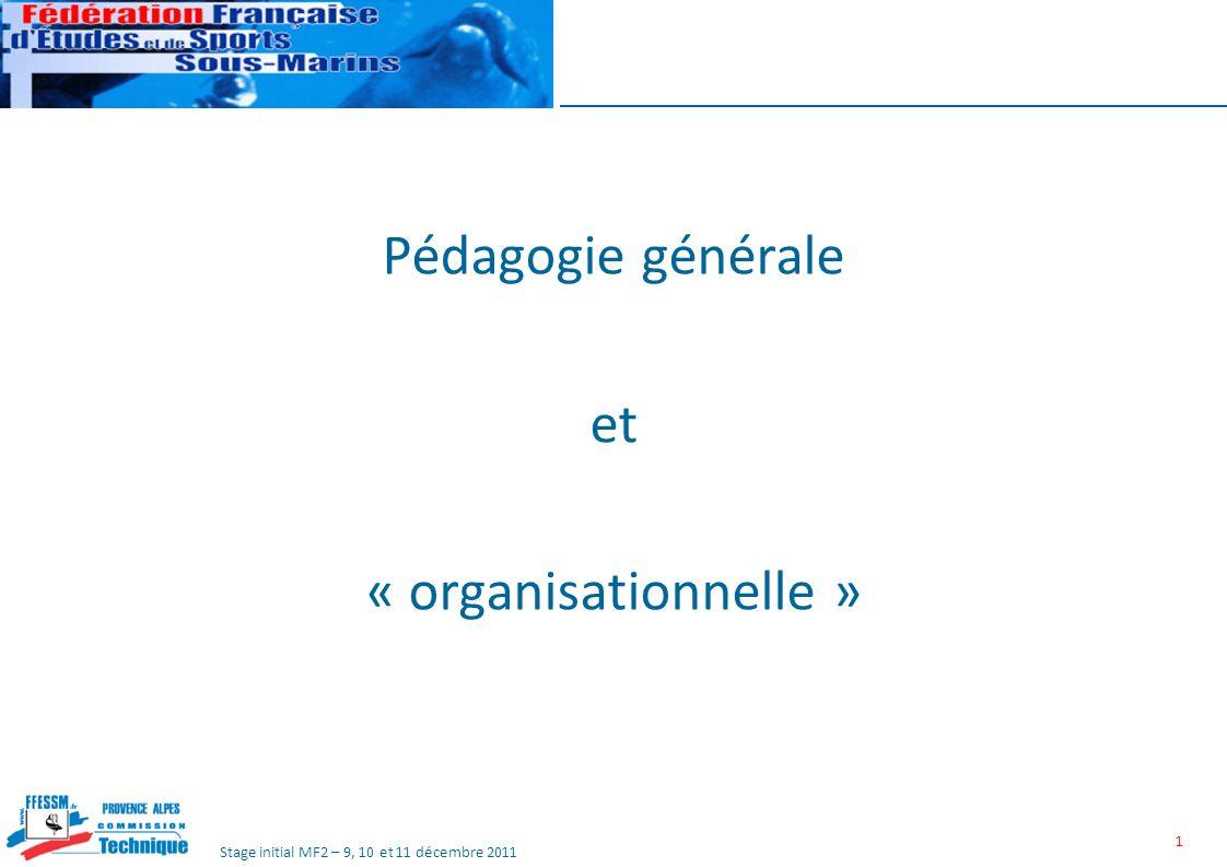 Pédagogie générale et « organisationnelle »