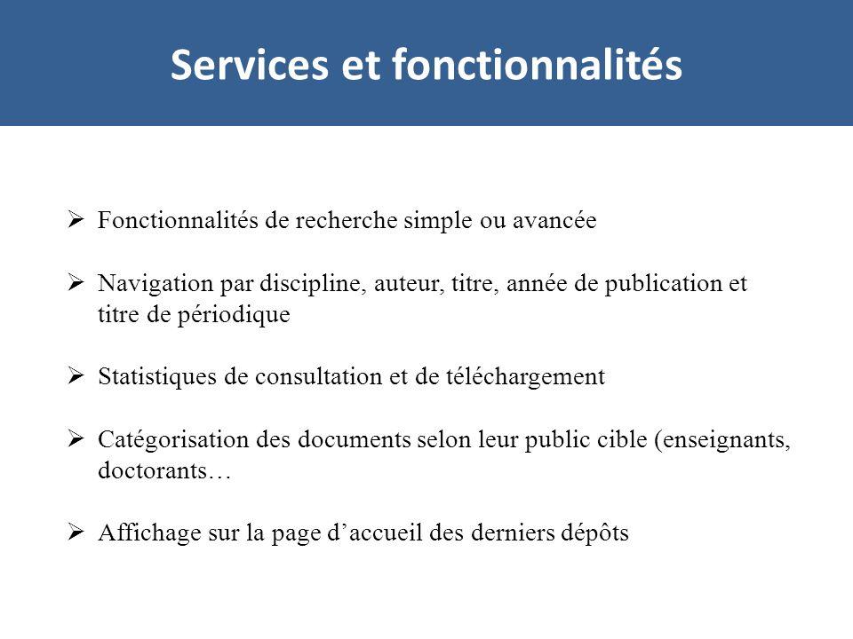 Services et fonctionnalités