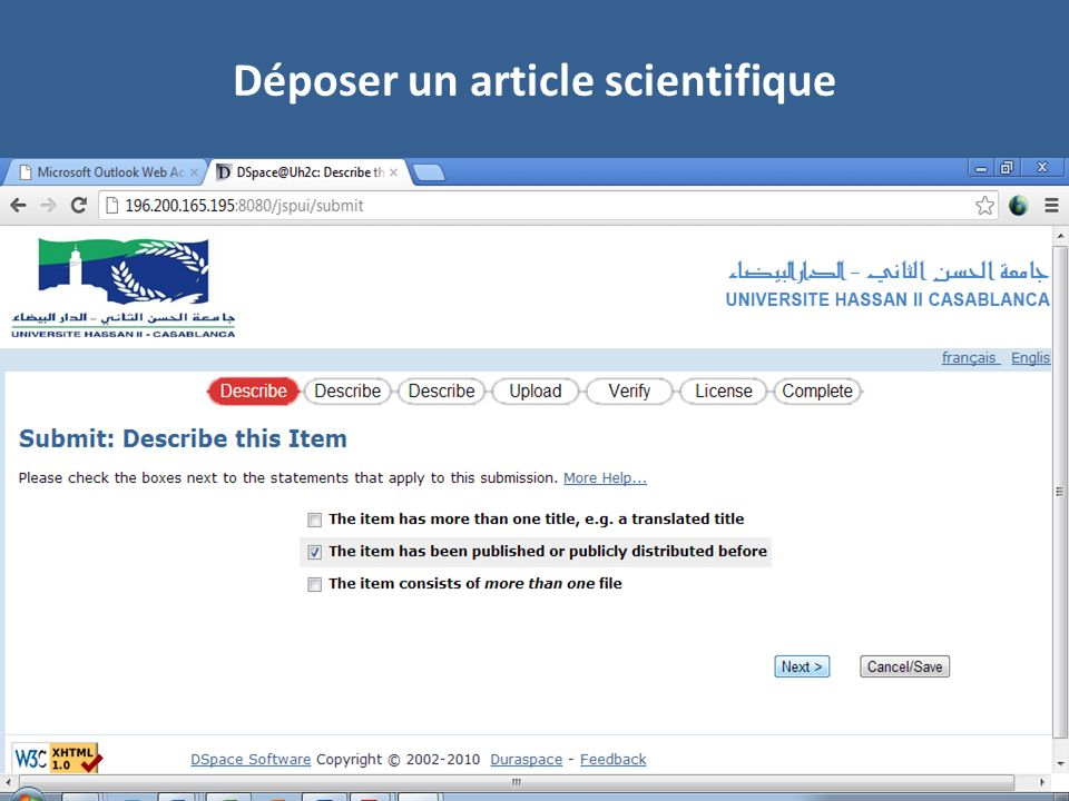 Déposer un article scientifique