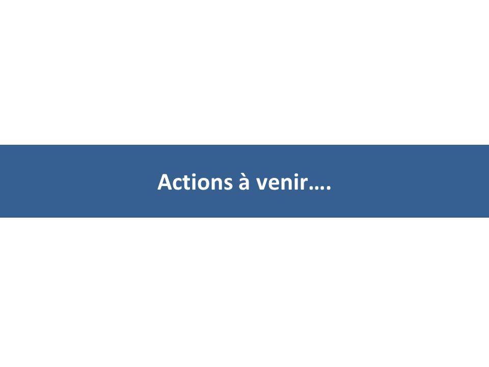 Actions à venir….