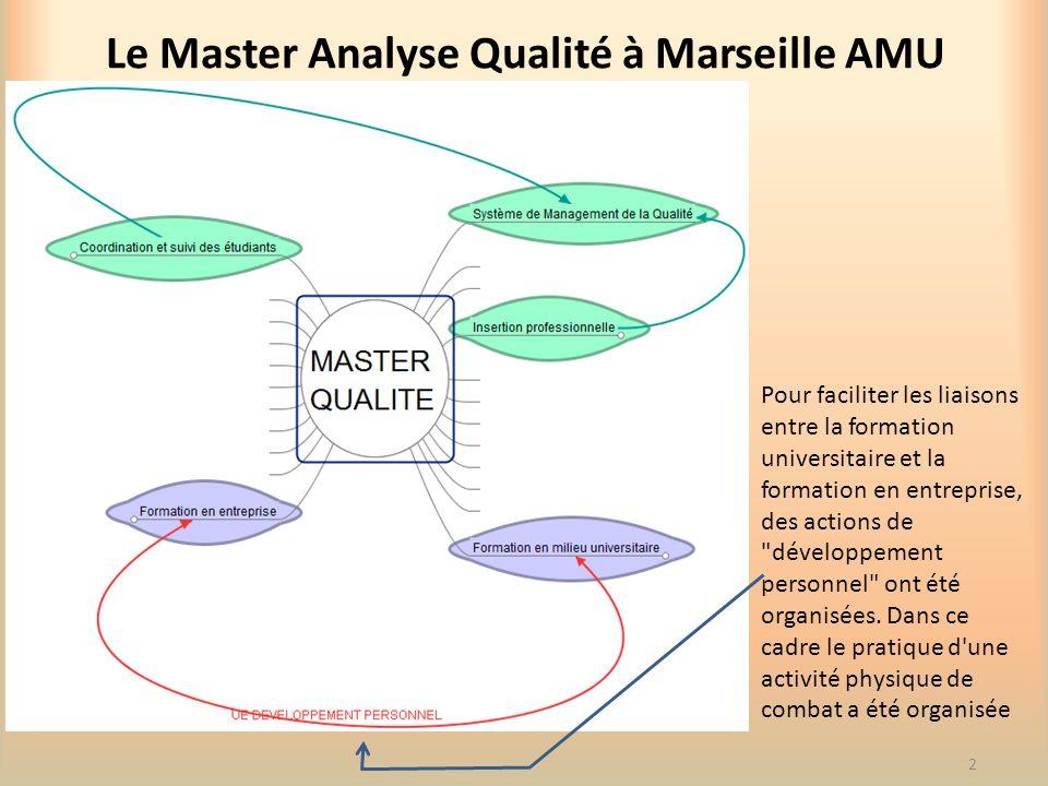 Le Master Analyse Qualité à Marseille AMU