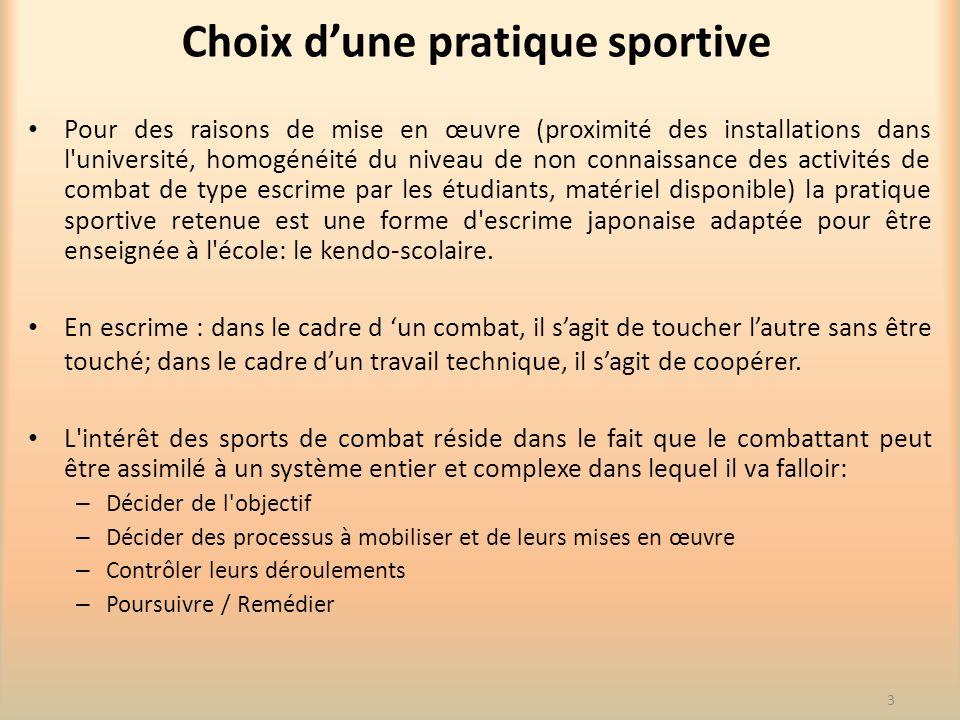 Choix d'une pratique sportive