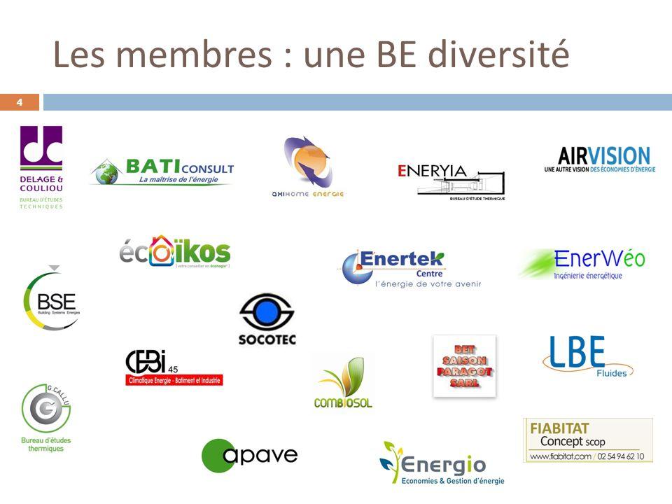 Les membres : une BE diversité
