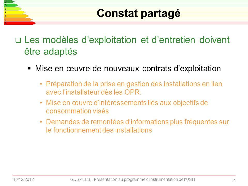 GOSPELS - Présentation au programme d instrumentation de l USH