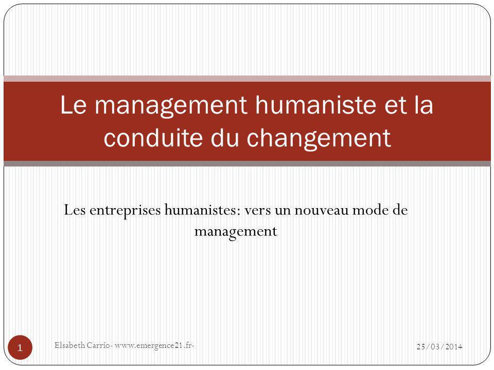 Le management humaniste et la conduite du changement
