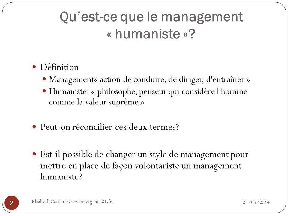 Qu'est-ce que le management « humaniste »