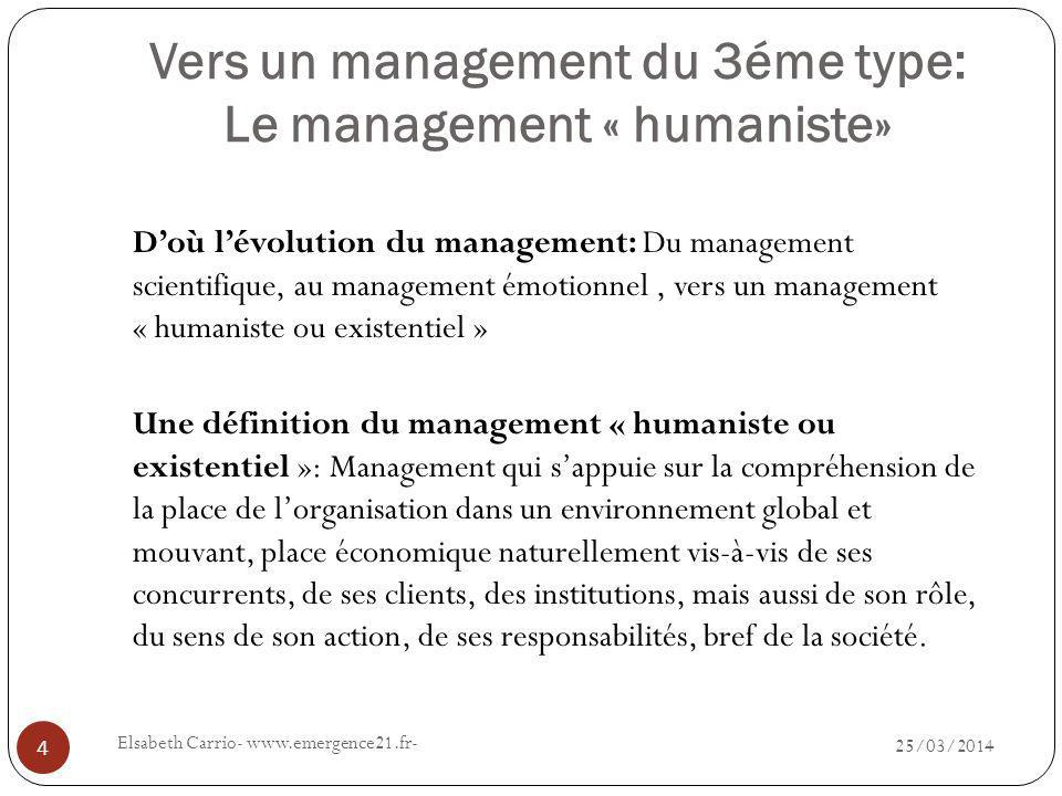 Vers un management du 3éme type: Le management « humaniste»