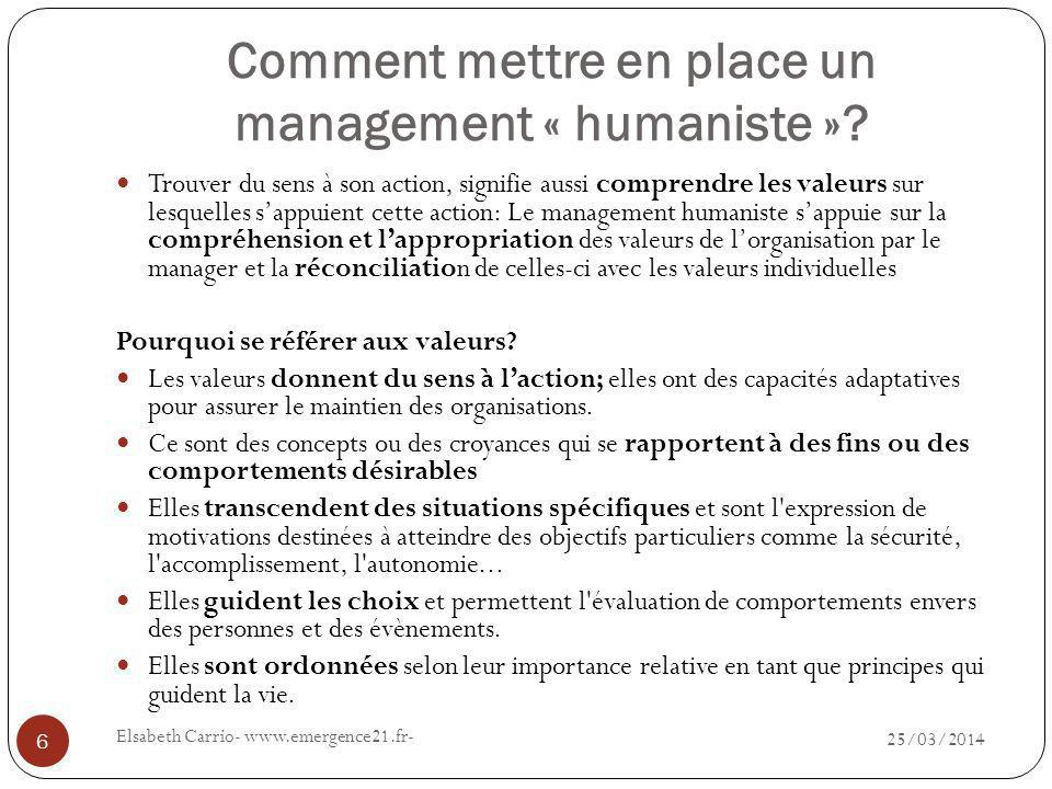 Comment mettre en place un management « humaniste »