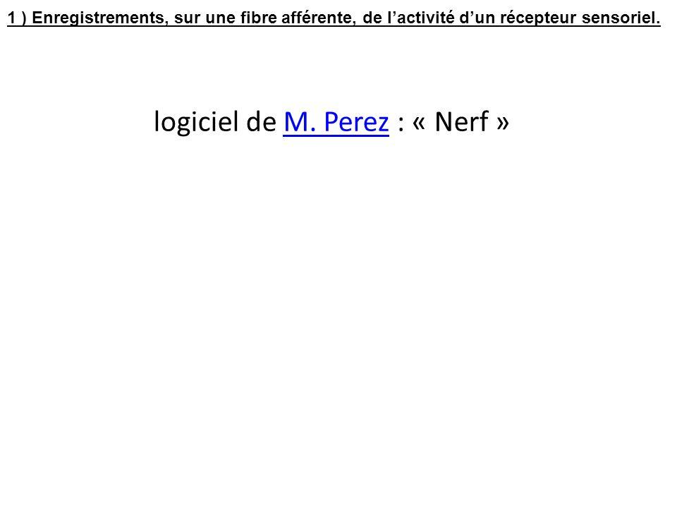 logiciel de M. Perez : « Nerf »
