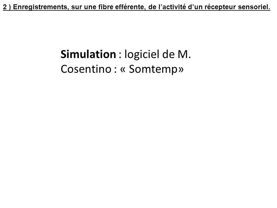 Simulation : logiciel de M. Cosentino : « Somtemp»