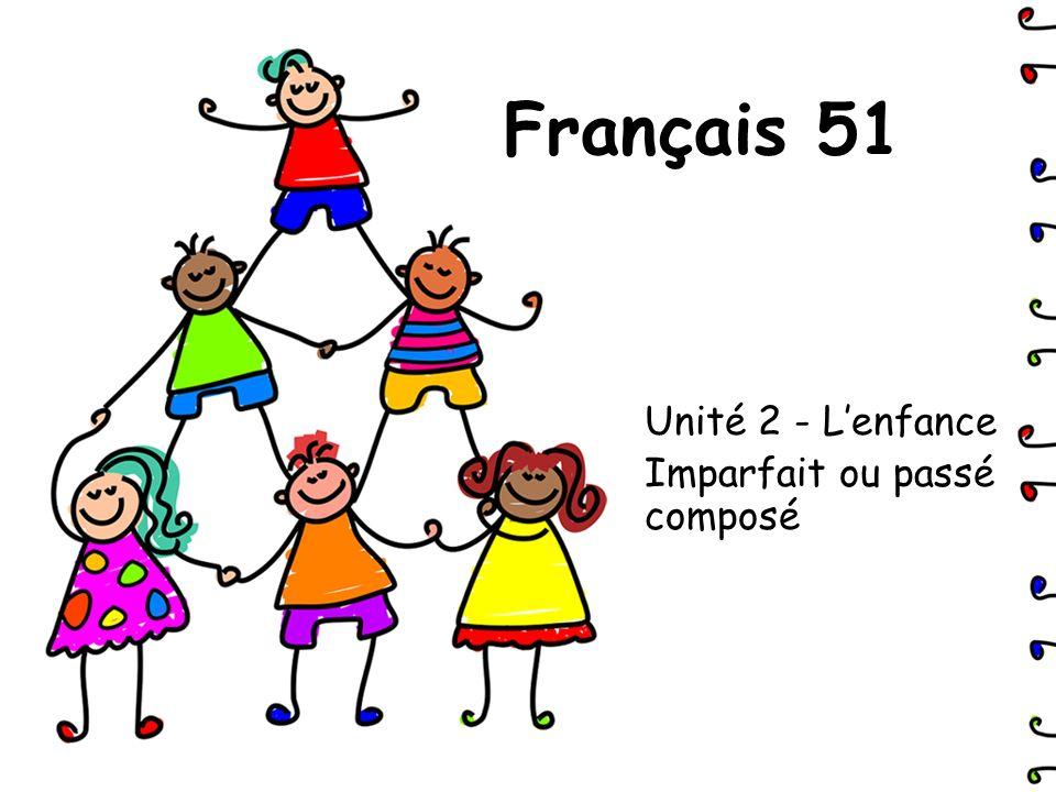 Unité 2 - L'enfance Imparfait ou passé composé