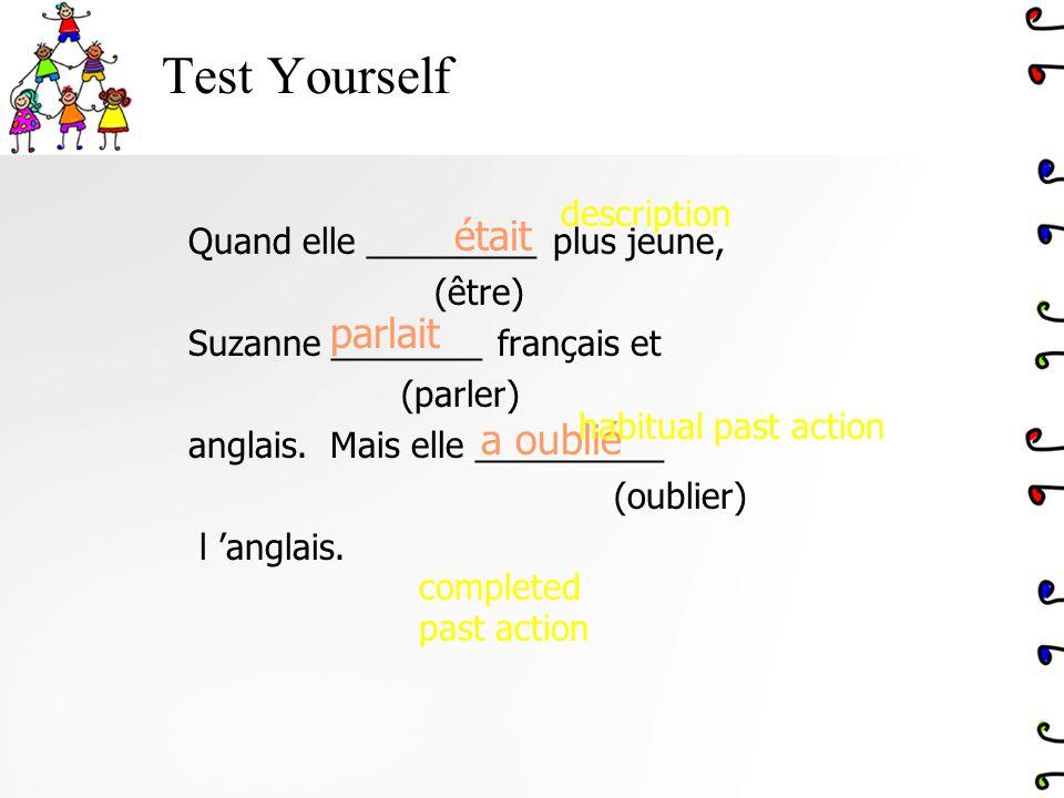Test Yourself était parlait a oublié description