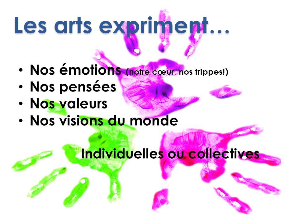 Les arts expriment… Nos émotions (notre cœur, nos trippes!)