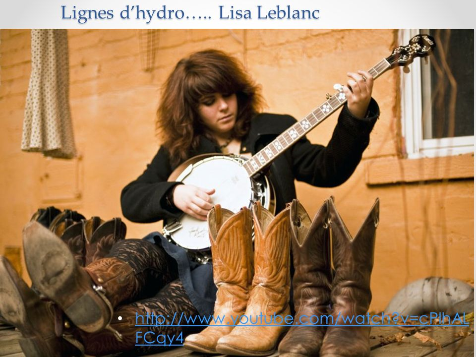 Lignes d'hydro….. Lisa Leblanc