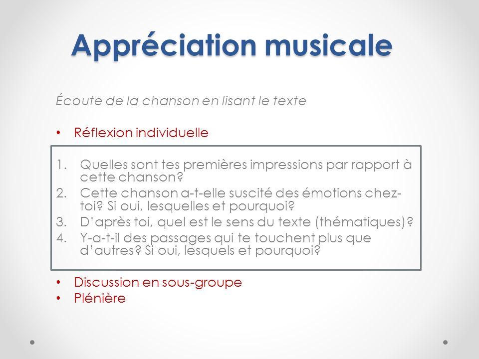 Appréciation musicale