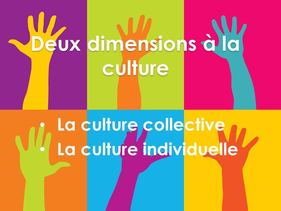 Deux dimensions à la culture