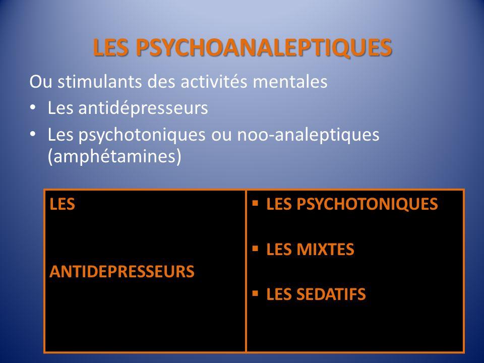 LES PSYCHOANALEPTIQUES