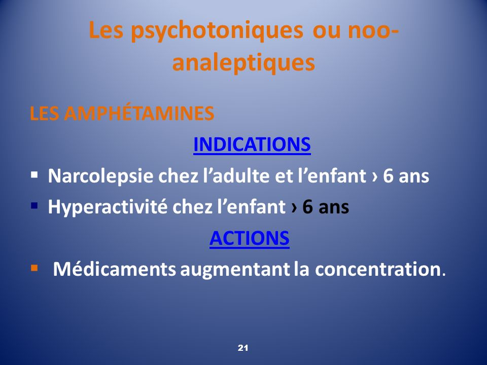 Les psychotoniques ou noo-analeptiques