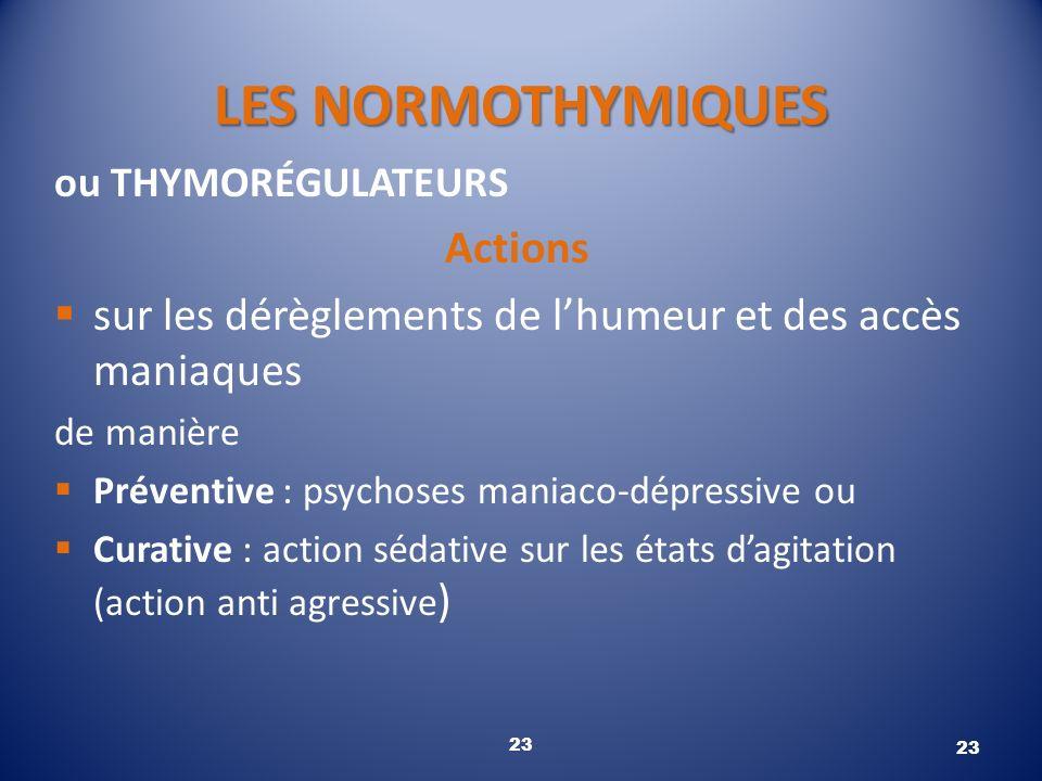 LES NORMOTHYMIQUES Actions