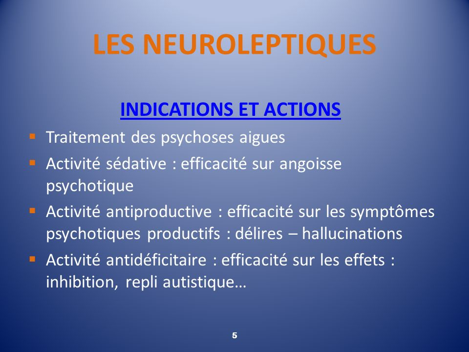 INDICATIONS ET ACTIONS