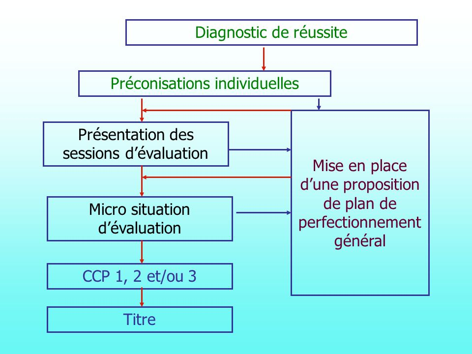 Diagnostic de réussite