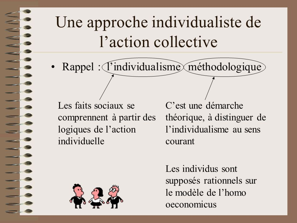 Une approche individualiste de l'action collective