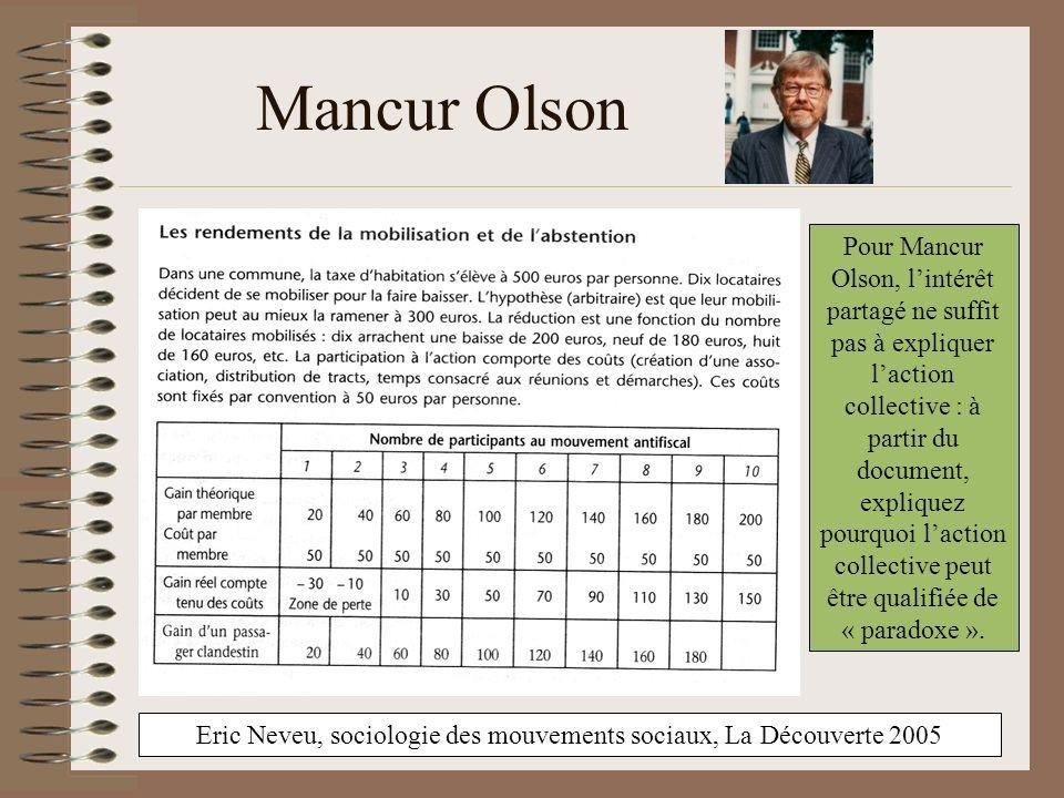 Eric Neveu, sociologie des mouvements sociaux, La Découverte 2005