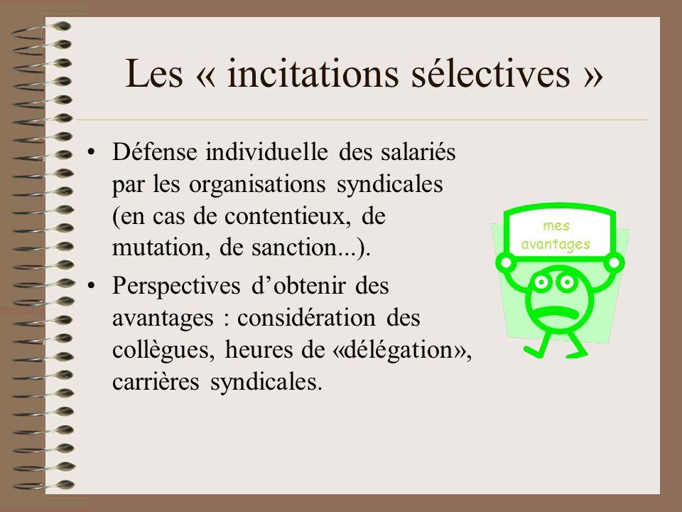 Les « incitations sélectives »