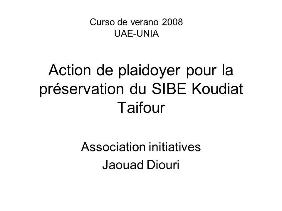 Action de plaidoyer pour la préservation du SIBE Koudiat Taifour