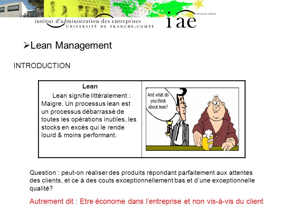 Lean Management INTRODUCTION