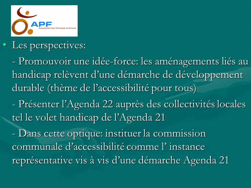 Les perspectives: