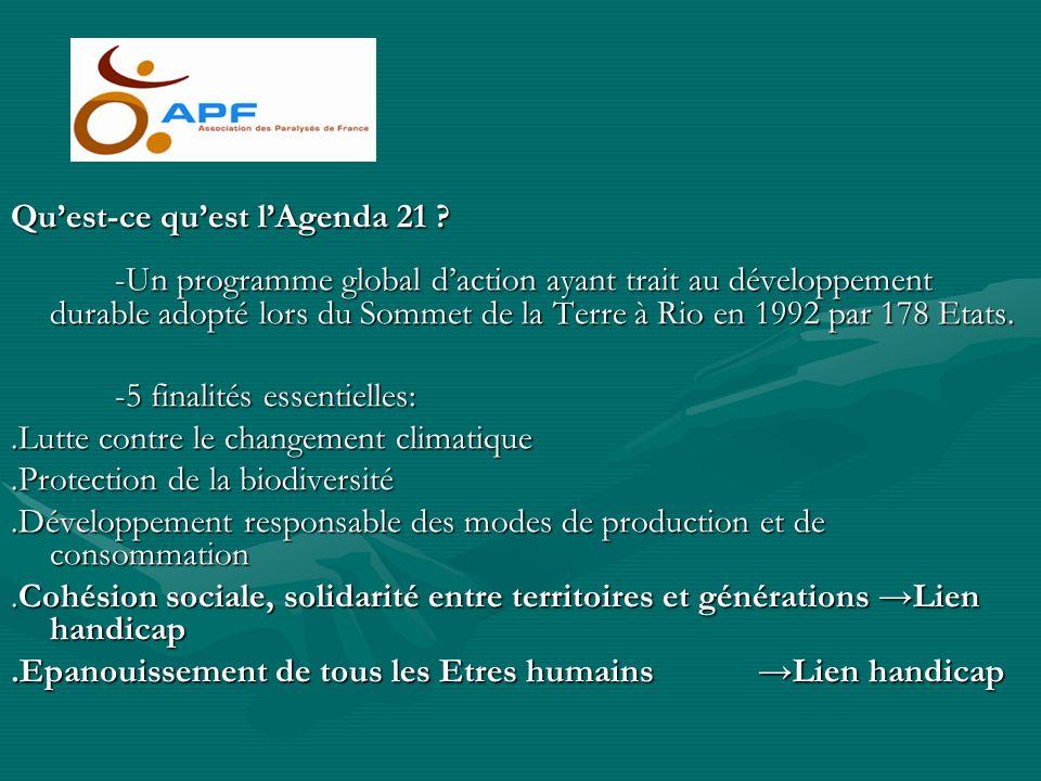 Qu'est-ce qu'est l'Agenda 21