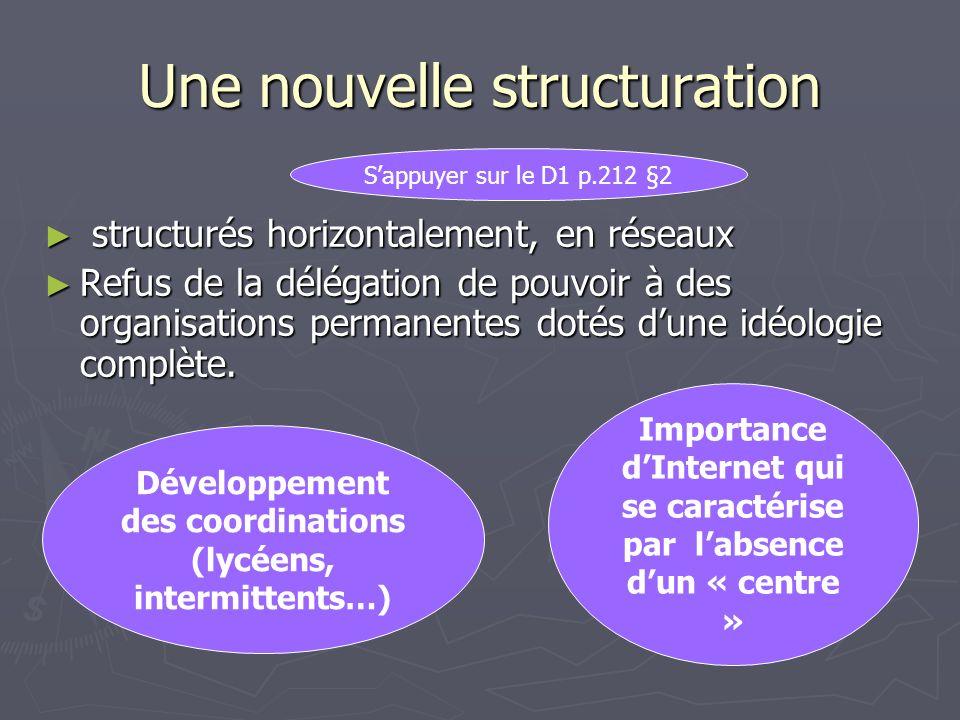 Une nouvelle structuration