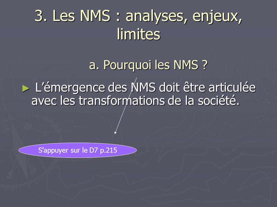 3. Les NMS : analyses, enjeux, limites