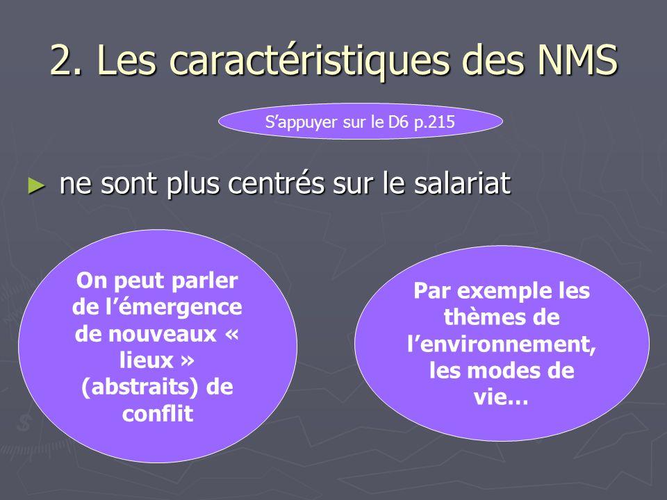 2. Les caractéristiques des NMS